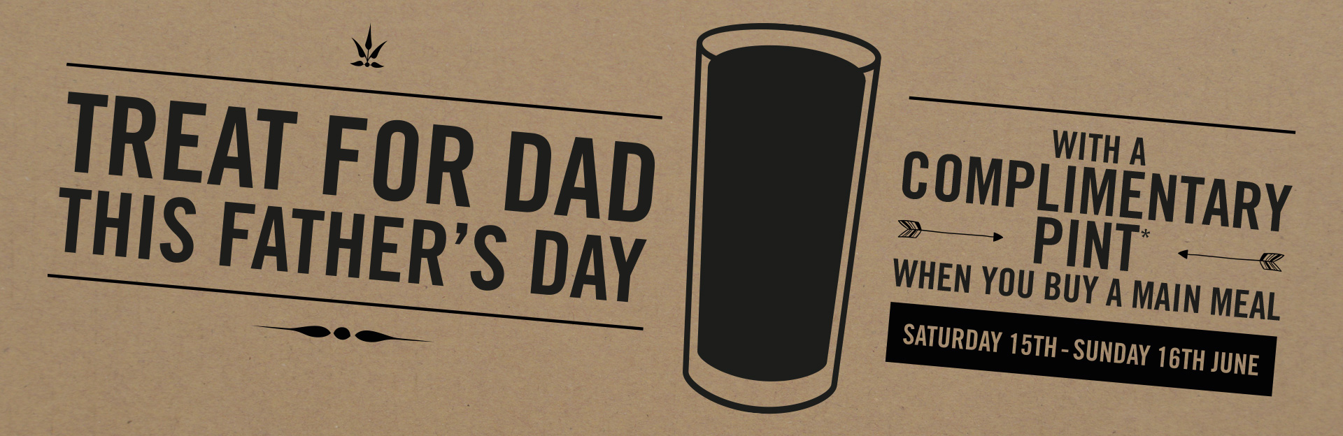 Father's Day at The Duke of Wellington